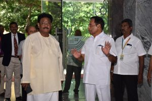 Chief Guest Visit to library