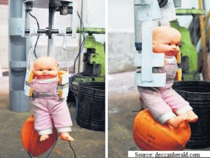 A robotic method to rescue the child in borewell