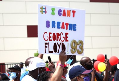 Protest against killing George Floyd