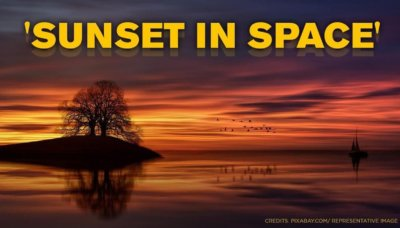 NASA sunset in space